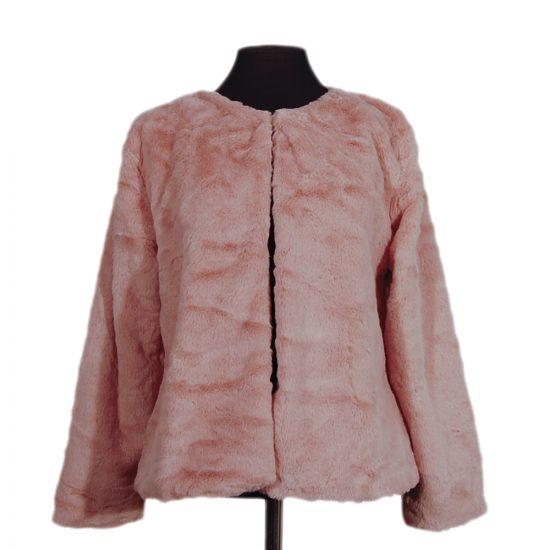chaqueta-corta-pelo-rosa-palo-delante-3022-soria-novias