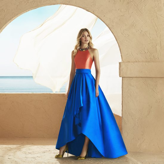 vestido-fiesta-2J1A7-naranja-azul-delante-soria-novias