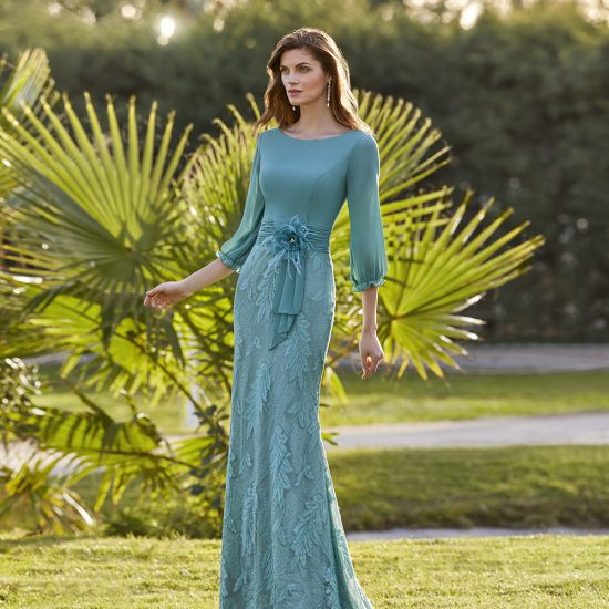vestido-fiesta-azul-turquesa-5G194-delante-soria-novias