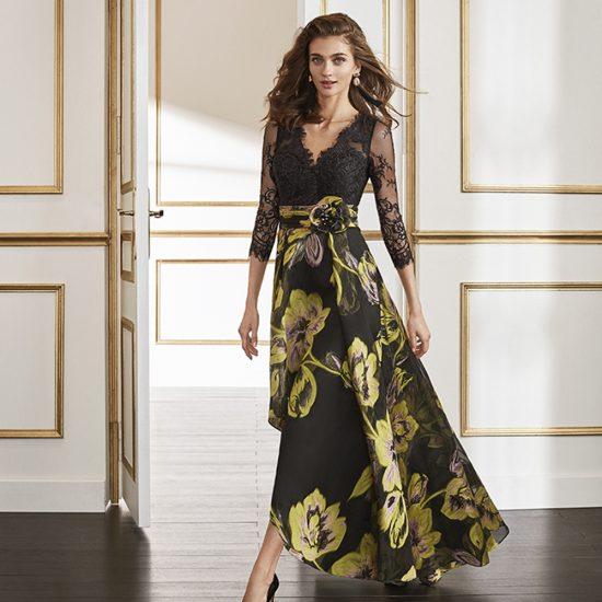 vestido-fiesta-flores-verde-negro-4J1B6-delante-soria-novias